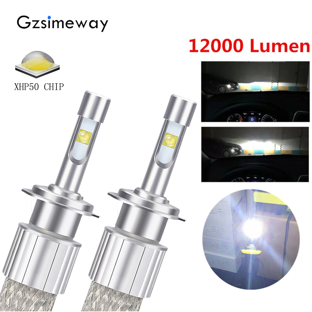 NATGIC 2PCS 10000 Lumens 16 XHP50 LED Chips H13 9008 Pure White 6500K LED Bulbs Hi//Lo All-in-one Waterproof LED Headlights Bulbs Conversion Kit,DC 9-32V fit 12V Vehicles