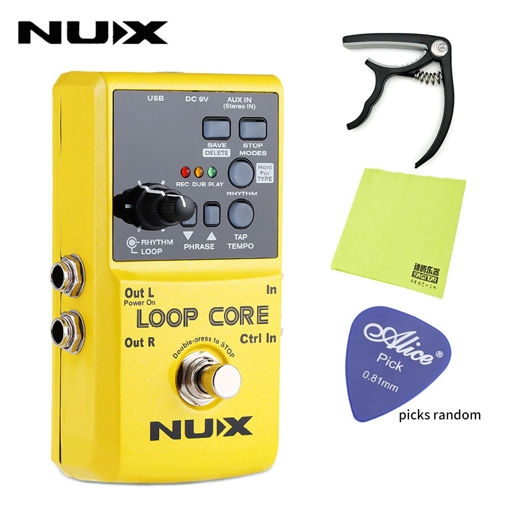 nux loop core electric guitar effect pedal looper 6 hours recording durable effects pedal. Black Bedroom Furniture Sets. Home Design Ideas