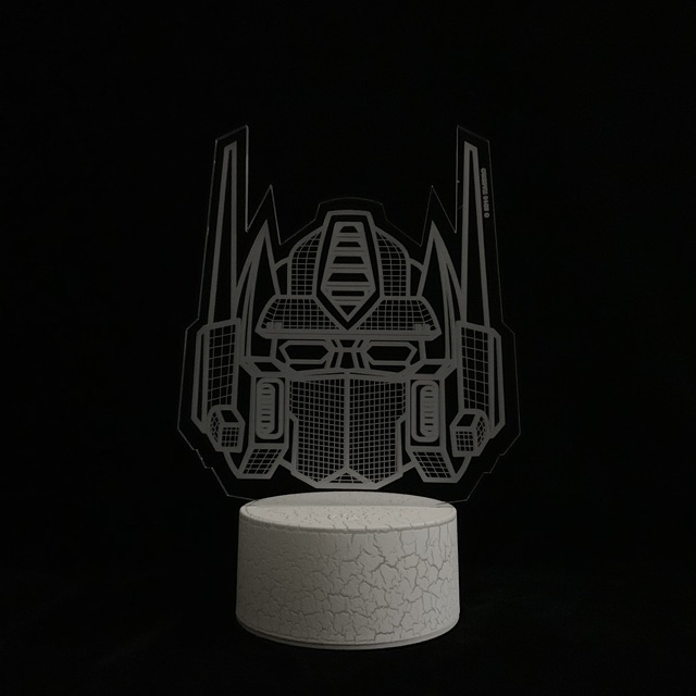 Cartoon Car 3D Lamp Robot Transformers Optimus Prime Lighting Home Decor Night Light USB LED Table Boy Holiday Christmas Gift RC 3