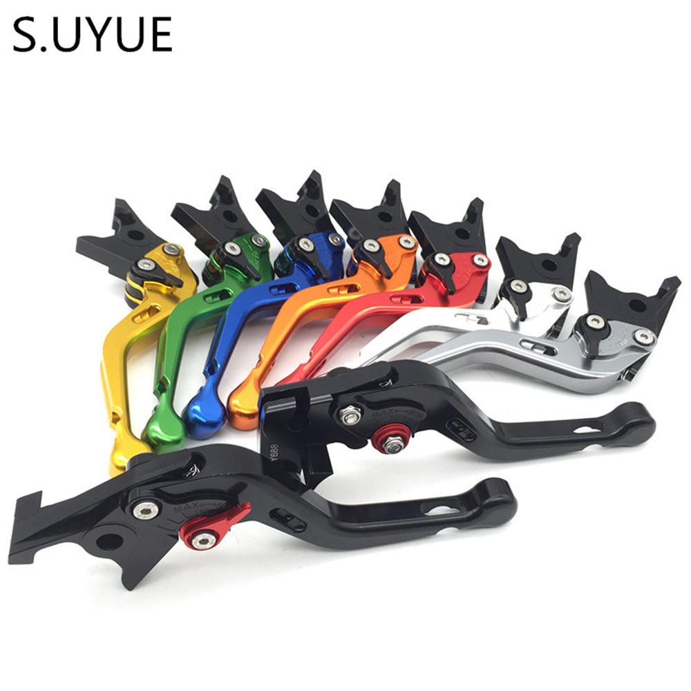S.UYUEFor Yamaha R6 2005 - 2016 CNC Short Adjustable Clutch Brake Levers 8 colors 2006 2007 2008 2009 2010 2011 2012 2013 2014 2016 cnc pivot dirt bike adjustable clutch brake levers for yamaha yz250fx 2015 2016 yz426f 450f 2009 2016 yz250f 2009 2016 2015