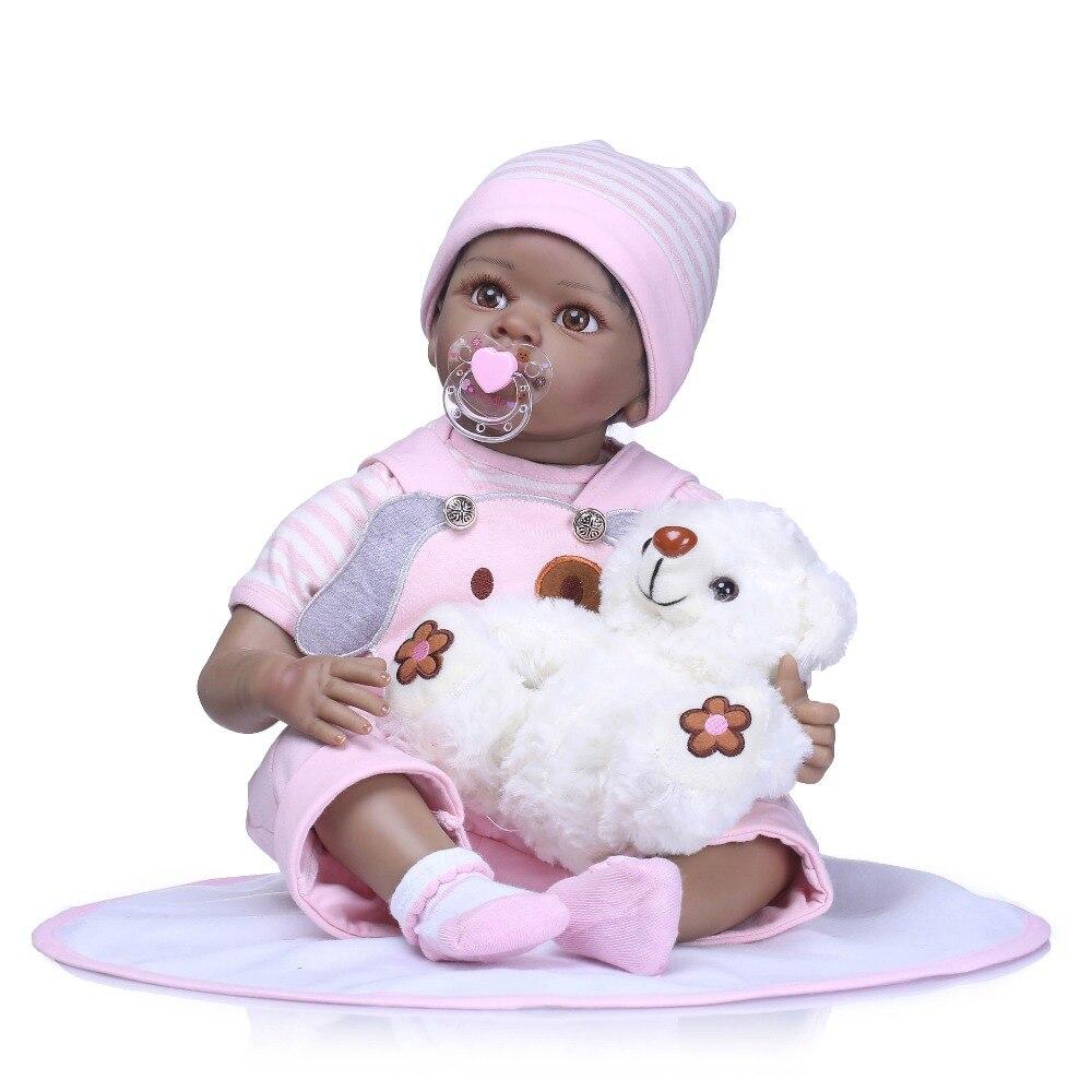 NPKCOLLECTION Boneca Reborn Soft Silicone Vinyl Dolls 55cm Soft Silicone Reborn Baby Doll Newborn Lifelike Bebe Reborn Toys