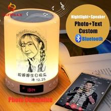 Tùy chỉnh Hình Ảnh/Văn Bản RGB Đèn Ngủ LED Cá Tính Tùy Chỉnh Nhạc Bluetooth USB Sạc Cảm Ứng Đèn Ngủ