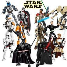 Звездные войны сборная фигура строительный блок игрушка Kylo Ren Chewbacca Дарт Вейдер Boba Jango Фетт Штурмовик совместим с lego