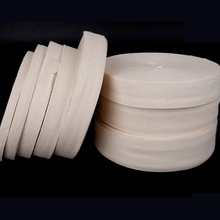 White/Natural white 4/5cm 100% cotton ribbon webbing herring bonebinding tape lace trimming for packing Sewing accessories DIY