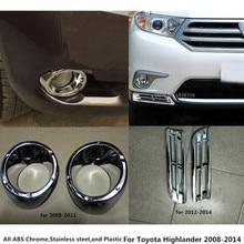 Для Toyota Highlander 2008 2009 2010 2011 2012 2013 2014 автомобилей спереди глава Туман лампа рамка ABS хром крышка отделка 2 шт.
