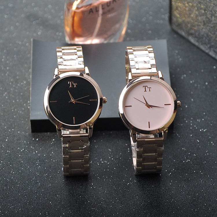 Luxury Delicate Simple Lady Dress Business Quartz Watch Rose Gold Stainless Steel Band Womens Wristwatch relogio