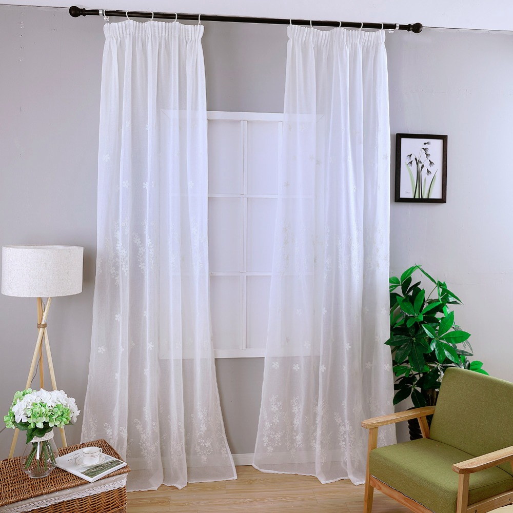 Online Get Cheap White Embroidered Curtains -Aliexpress.com ...