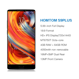 "Image 2 - HOMTOM S9 Plus 18:9 HD+ 5.99"" Tri bezelless Full Display Cell phone MTK6750T Octa Core 4G RAM 64G ROM Dual Back Cam Smartphone"