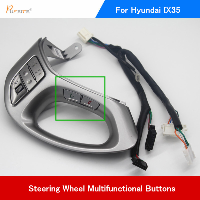 Buttons For Hyundai ix35 Multifunction Remote Control Buttons Switch steering wheel DVD GPS player Accessories new remote control for lg blu ray dvd disc player remote control akb73615801 for bp220 bp320 bp125 bp200 bp325w