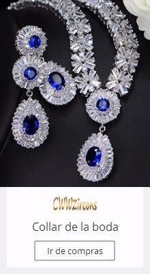 670640bcd2b5 CWWZircons exclusivo Dubai oro Color joyería de lujo Cubic Zirconia collar  pendiente pulsera partido joyería conjunto para las m.
