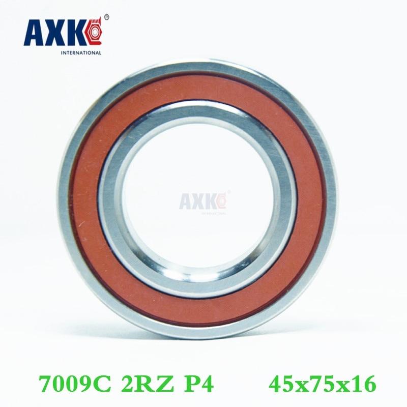 Axk 7009 7009c 2rz P4 45x75x16 Sealed Angular Contact Bearings Speed Spindle Bearings Cnc Abec-7 1 pair mochu 7009 7009c 2rz p4 db a 45x75x16 45x75x32 sealed angular contact bearings speed spindle bearings cnc abec 7