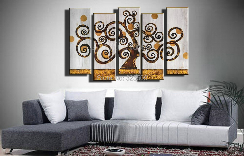 Large Architectural Wall Decor : Piece huge muti panel canvas wall art cheap large