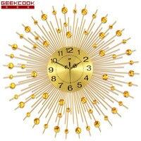 Geekcook Amerykański Styl Zegar Ścienny Nowoczesny Design Home Decoration Salon/Sypialnia Wyciszenie Zegarek Cyfrowy Duże Zegary Ścienne Ścienne