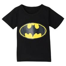 Fashion Boy Girl T-shirt Batman Cotton Short Sleeve Childrens Clothes T-Shirt Top Casual Summer Clothing Cartoon