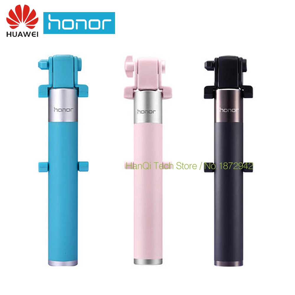 Original Huawei Honor Selfie Stick Monopod Wired Selfi Self Stick Extendable Handheld Shutter for iPhone Android Huawei gepro multifunctional shutter self timer monopod black