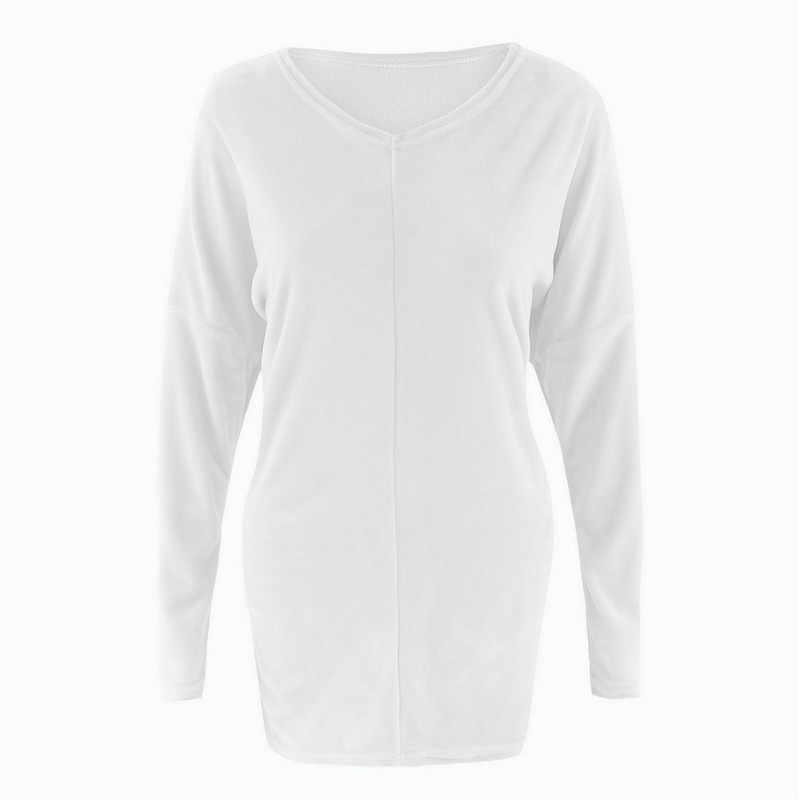 Женское платье-свитер с лоскутным дизайном, v-образный вырез, рукав летучая мышь, однотонный топ, корейский стиль, офисные женские свободные повседневные тонкие рубашки