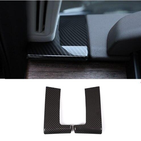 2 x fibre de carbone pour Land Rover Discovery 5 L462 LR5 2017 2018 voiture-style ABS plastique tableau de bord décoration couverture garniture pièce Auto