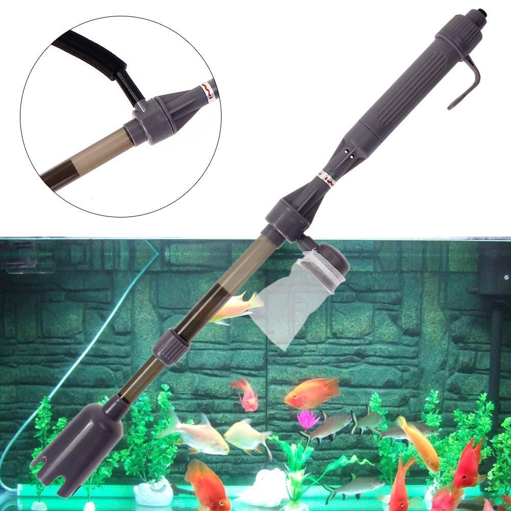 Electric aquarium fish tank battery gravel cleaner washer for Fish tank syphon