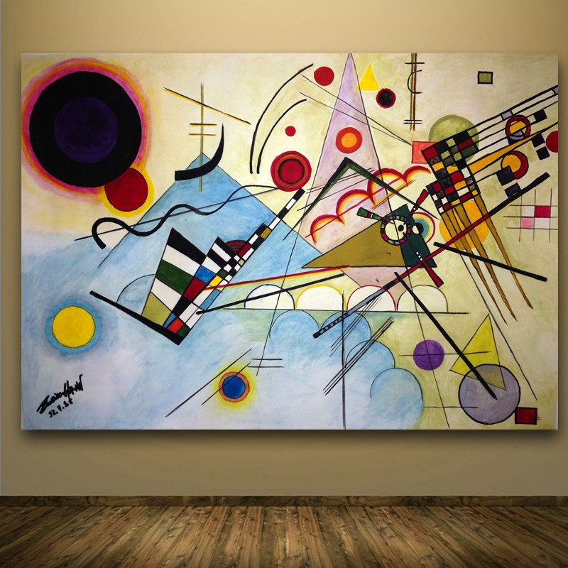 WASSILY KANDINSKY Composition no8 1923 Wall Painting picture leaf