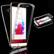 2X Full Clear Soft Case For LG G3 G4 G5 G6 K4 K5 K7 K8 K10 LTE 2017 Silicon Cover Coque for LG G4S G4 S G4 Beat G4 Stylus Capa(China)
