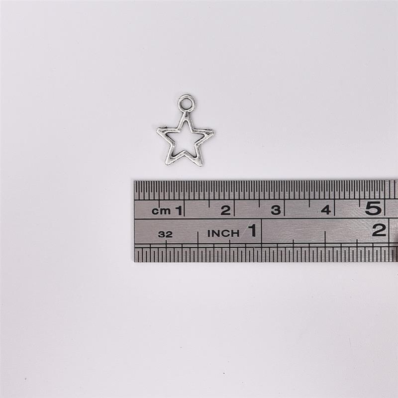 50 шт./лот звезда серебряного цвета крыло оболочки сердце подвеска фурнитура Подвески для изготовления ювелирных изделий ожерелье DIY аксессуары для изготовления браслетов - Цвет: Star