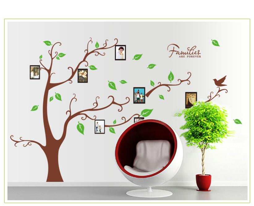 Home Decor 3D DIY Photo Tree PVC Wall Decals Adhesive Wall Stickers Mural Art Home Decor wall sticker Home Deco mirror AU6