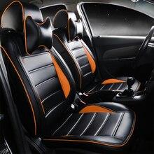 2016 nuevo cuero de la pu cojines set para volkswagen tiguan touareg jetta bora envío gratis car seat covers 4 estaciones accesorios