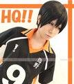 Haikyuu!! Voleibol kageyama tobio Peruca Cosplay Anime Traje Do Partido Preto Curto Sintético Perucas Perucas do Partido Dos Homens Peruk