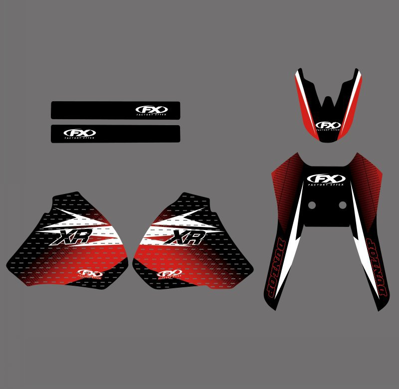 GRAPHICS & BACKGROUNDS DECALS STICKERS Kit for Honda XR250 XR400 1996 1997 1998 1999 2000 2001 2002 2003 2004 XR 250 400-in Decals & Stickers from Automobiles & Motorcycles    2