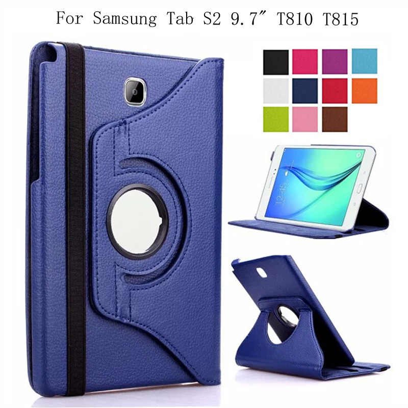 360 Graden Draaiende Smart Case Voor Samsung Galaxy Tab S2 9.7 T810/T815 Coque Funda PU Leather Flip Stand tablet Cover
