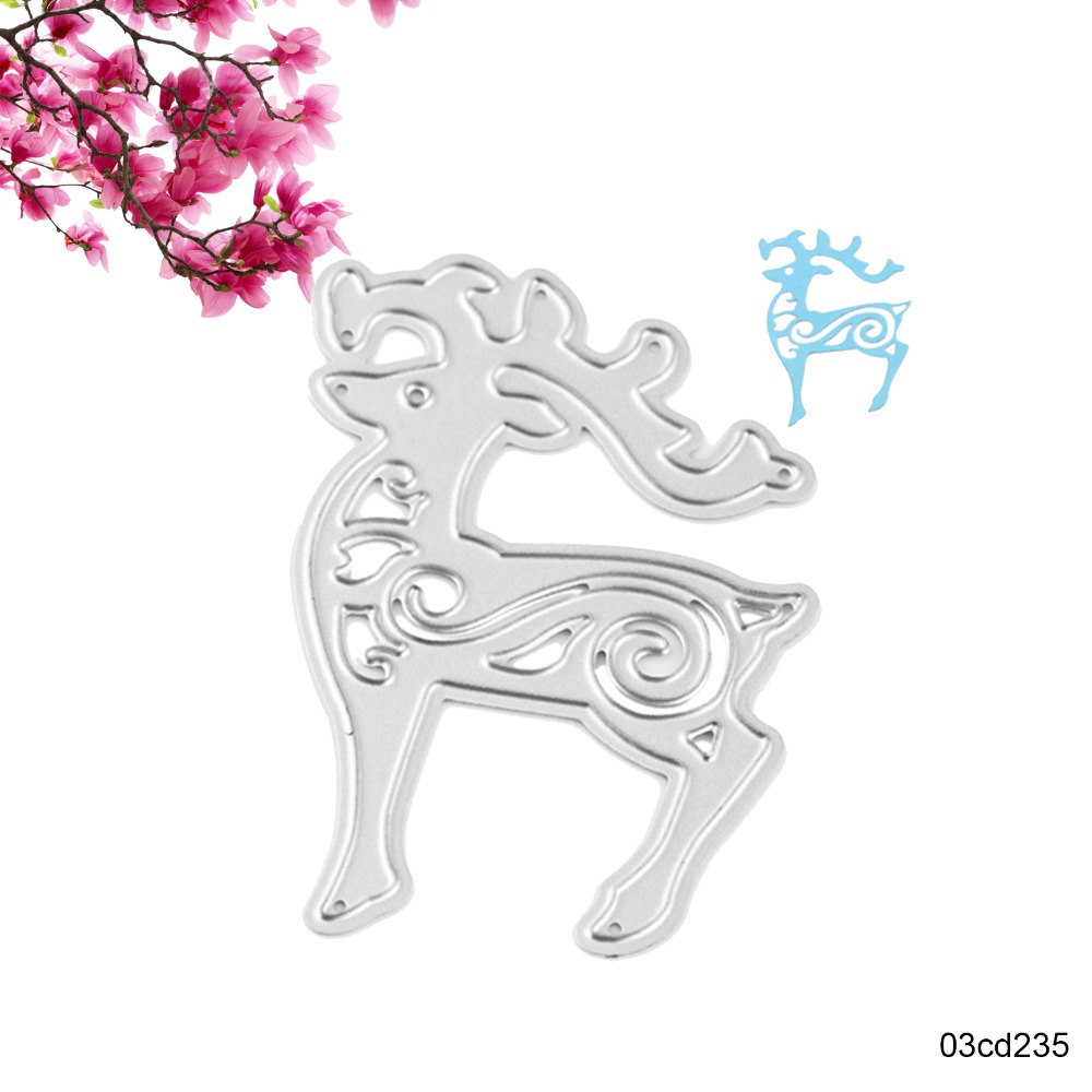 christmas paper template promotion shop for promotional christmas christmas deer metal cutting dies stencil template scrapbooking paper greeting card album photo painting embossing diy decor