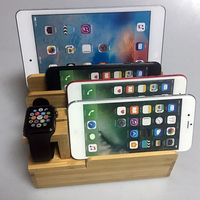 Lovoski Bamboo Charging Dock Station Charger Holder Stand For Watch IPad