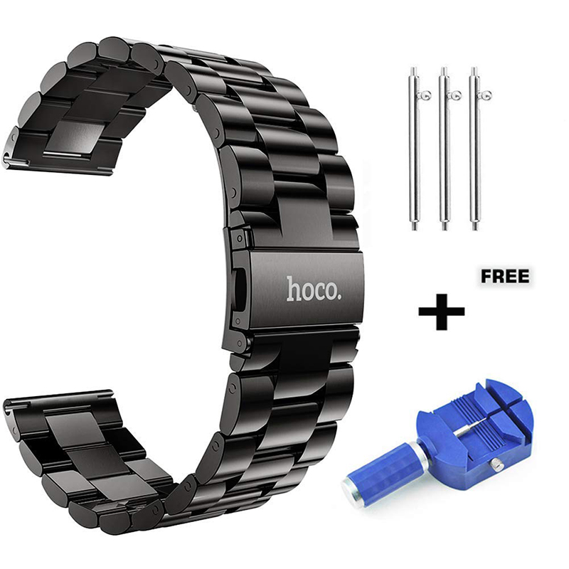 HOCO Staninless Steel Watch Band for <font><b>Samsung</b></font> Gear S3 Classic/Frontier Galaxy Watch <font><b>46mm</b></font> Smart Watch Wrist <font><b>Strap</b></font> Link Bracelet image