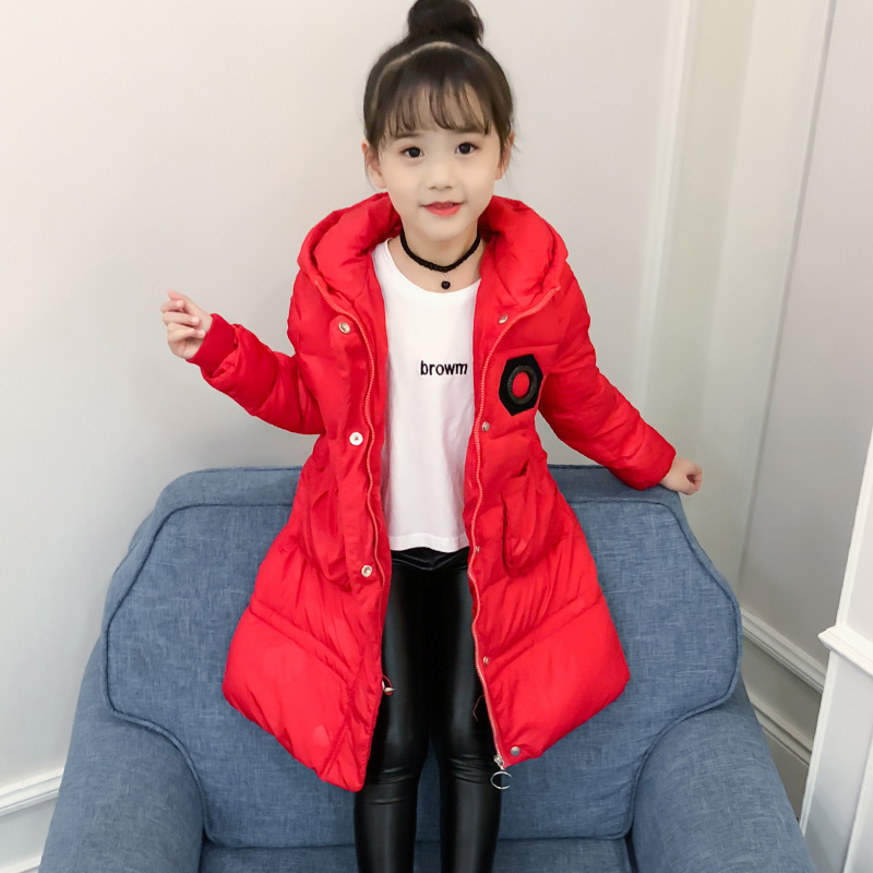 Girls winter Coats And Jackets 2018 Kids Outwear Down Jacket Girls Clothes Parkas Children Baby Girls Clothing down coat ins spring kids jacket pu leather girls jackets clothes children outwear for baby girls boys clothing coats costume winter 1 7y