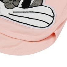 2017 autumn domeiland cute children's Princess outfits clothes sets for kids girl cotton cute rabbit sweater stripe pant suit