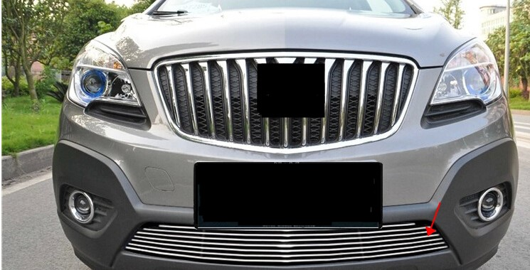 Chrome /& Black Front Replacement Upper Hood Grill For Buick Encore 2013-2015