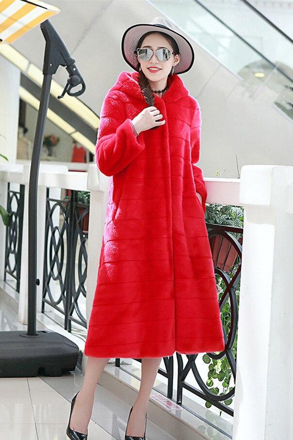 125 er mantel gre gef mode xhsd pelz Hei lschte oberbekleidung plus 6xl winter rex rotschwarz koreanische stil verkauf frauen langarm kaninchen ybvY6gf7
