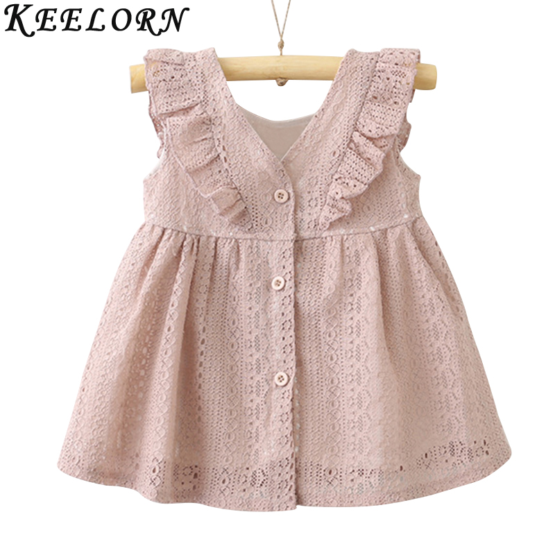 Keelorn Girls dress 2018 Summer fashion Lace Girls Dress Baby Girls Casual Dresses Children's Clothing Toddler Girl Clothing 2016 summer fashion dresses of the girls beautiful female baby lace dress can be customized factory price direct selling