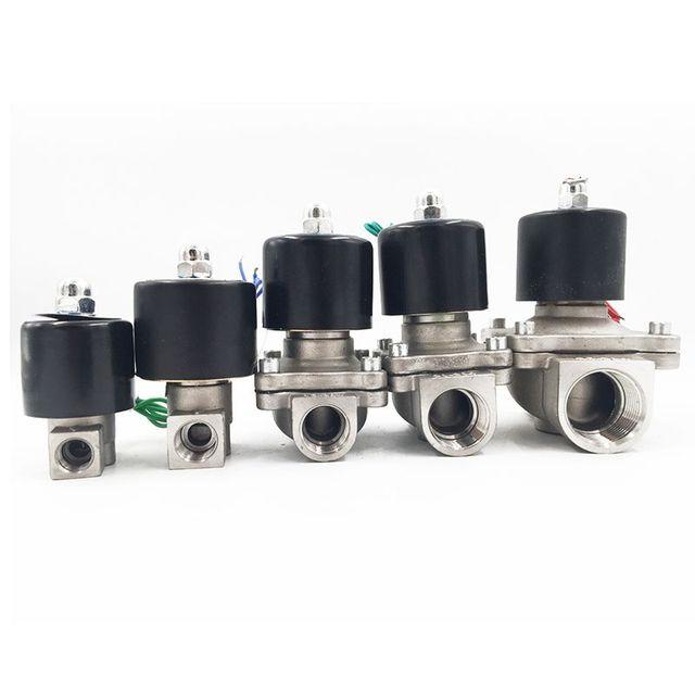"1/4"" 3/8"" 1/2"" 3/4"" 1"" DN8 DN15 DN25 Stainless steel Electric Solenoid Valve 12V 24V 220V 110V Pneumatic Valve for Water Oil Gas"