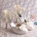 Wedopus MW130 Nuevo Vestido de Dama de honor Tacones Plataforma de La Bomba Correa de La Perla de La Cinta de La Boda Zapatos de Novia