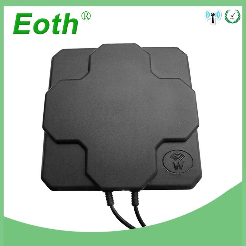 Antenne 4G LTE N panneau extérieur mâle Gain élevé 18dbi 698-2690 MHz 4G Antenne externe mimo directionnelle aérienne pour routeur sans fil