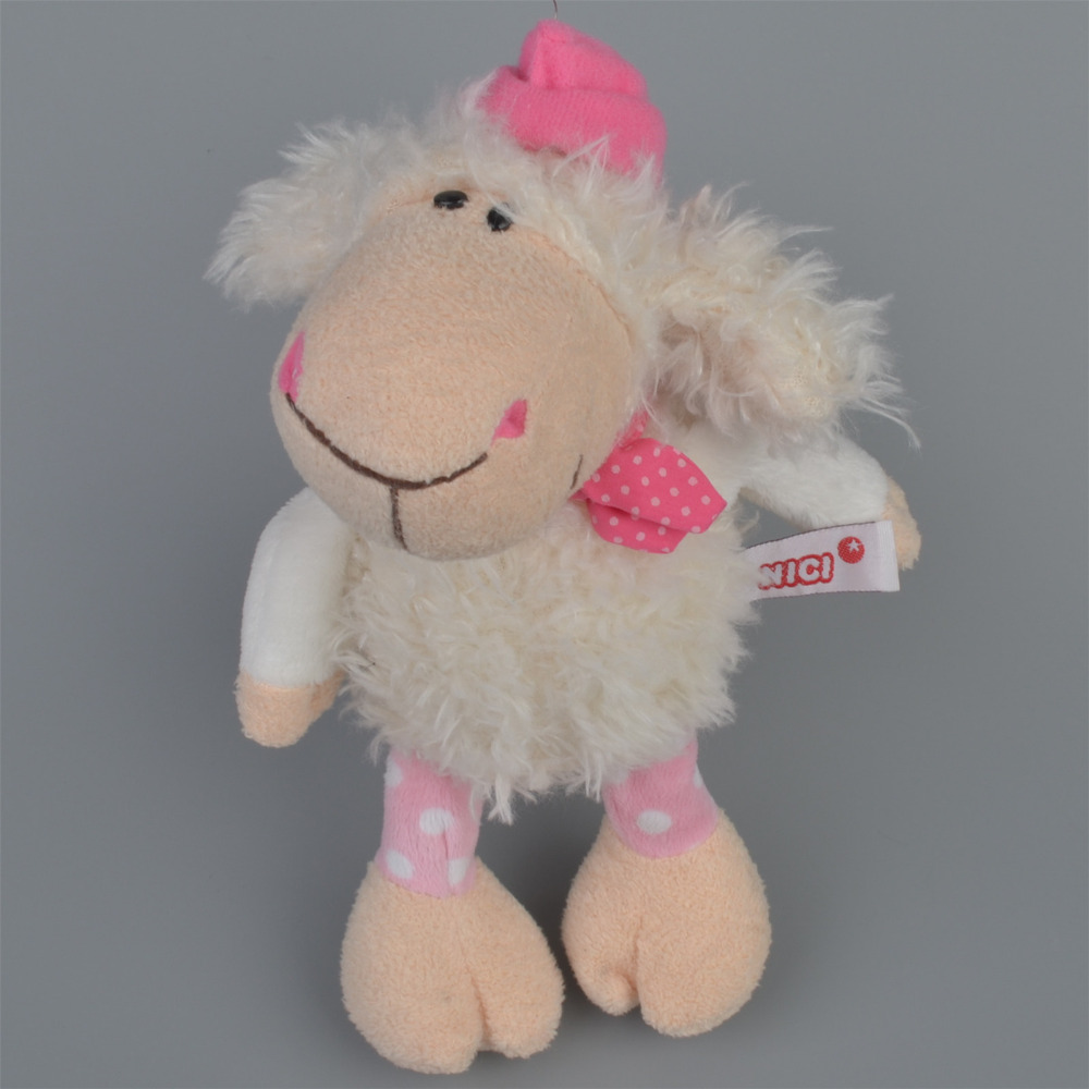 25cm Pink Cap Sheep Stuffed Plush Toy, Baby Kids Doll Gift Free Shipping