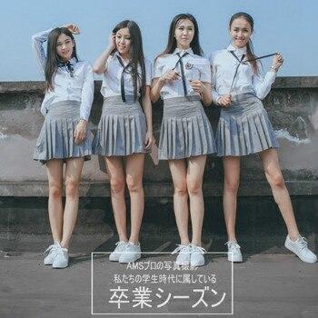 цена на High school students uniform JK student wear female high school uniform service class JK uniform graduation suit sailor suit