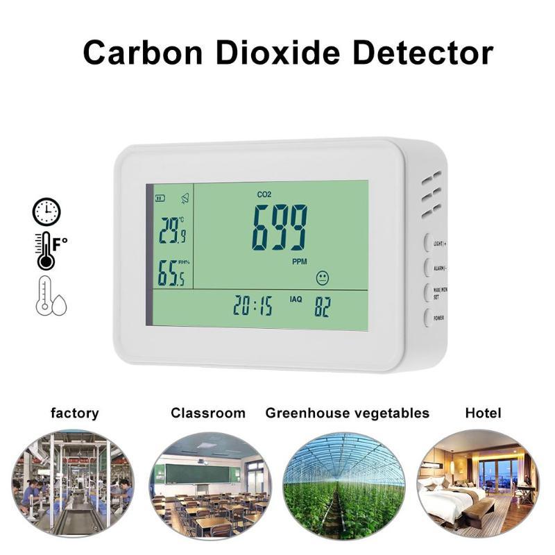 YEH-40 углекислого газа детектор инструменты анализа CO2 монитор сигнализации Температура измеритель влажности TesterClock сигнальный светодиод Ди...