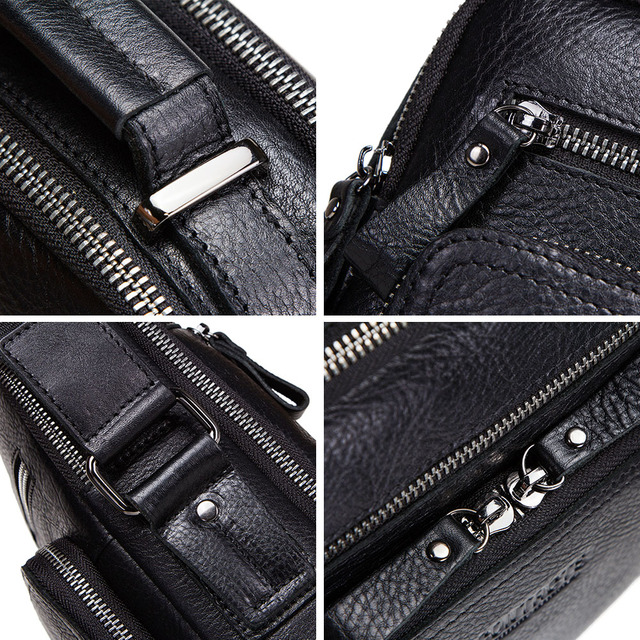 CONTACT'S 100% genuine leather men shoulder bag crossbody bags for men high quality bolsas fashion messenger bag for 9.7 5