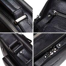 100% genuine leather men shoulder bag