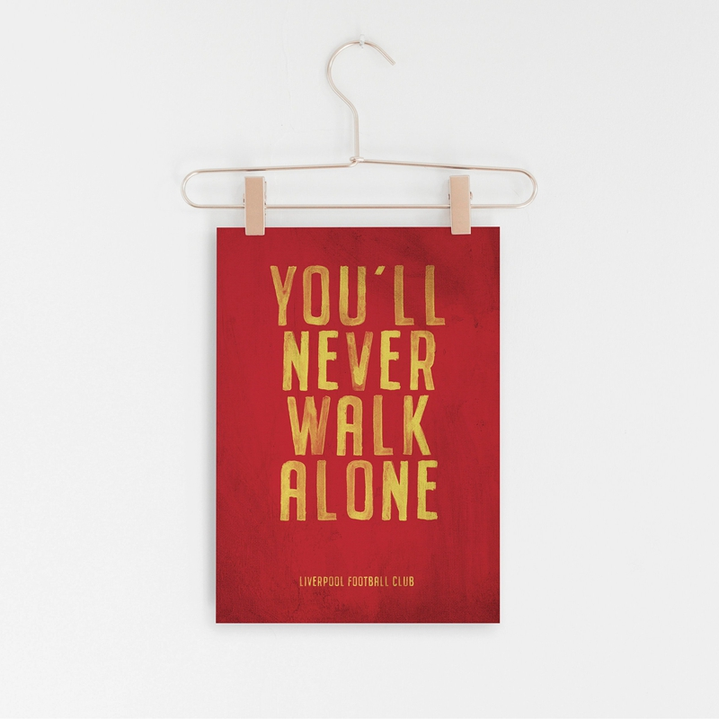 liverpool motto vintage poster prints you ll never walk alone canvas art painting picture home boys room wall decor