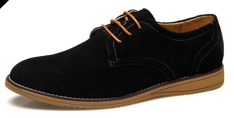 f027d9da3878a0 2015 High Quality Suede Leather Men Oxford Shoes Men Bullock Genuine  Leather Casual Shoes Lace Up Men Flats Blue Black 4 Colors-in Women's Flats  from Shoes ...