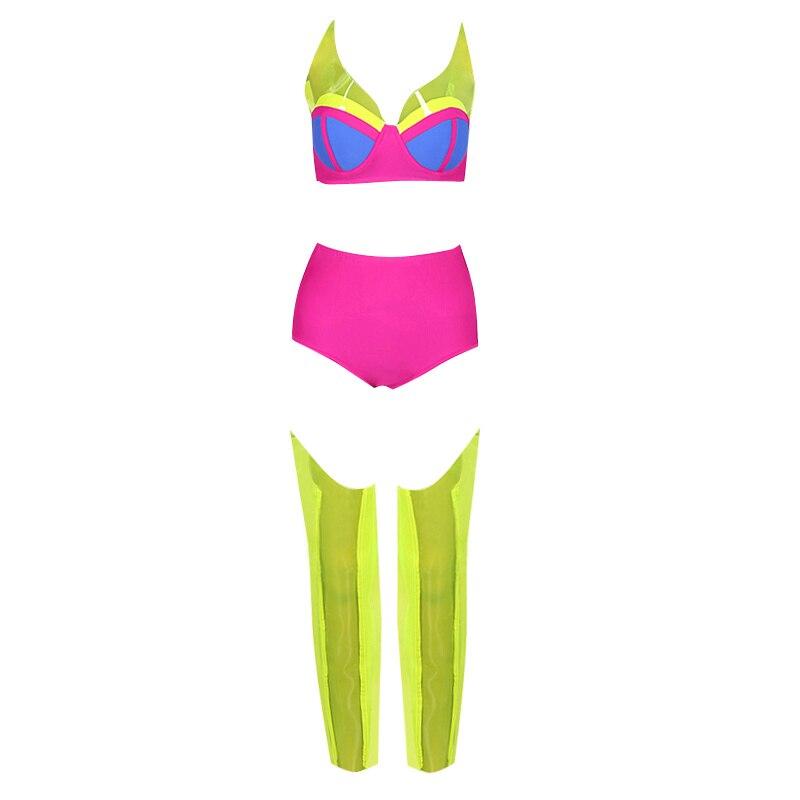 6ef2b2d3424dd Fashion Ballroom Wear Women's Stage Costume Neon Crop Top Shorts Carnival  Hot Pink Sexy DS DJ Nightclub Clothing Dancer Clothes
