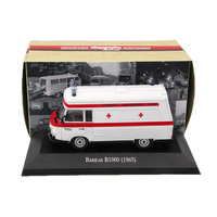 Atlas 1 43 Ambulance Barkas B1000 1965 Ambulance Diecast Models Editions Toys Car Collection Auto